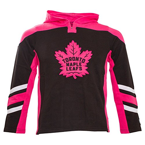 Toronto Maple Leafs Youth Blush Long Sleeve hooded Top (L - Maple Blush