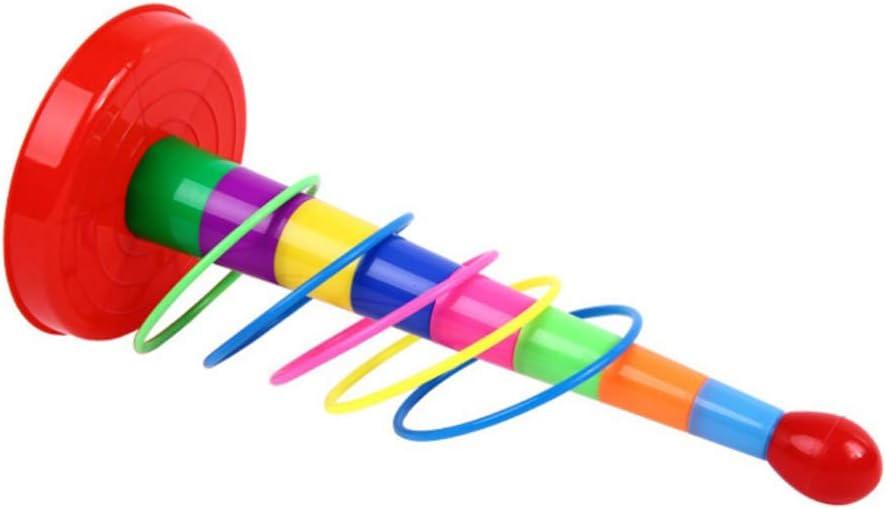 BESPORTBLE 2 Ensembles en Plastique D/étachable Sport Anneau Lancer Jeu Jeu Carnaval Combo Ensemble Lancer Cercle Activit/é Anneaux pour Enfants Agilit/é Pratique Jeux