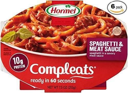 Spaghetti Dinner - Hormel Compleats Sauces, Spaghetti & Meat Sauce, 7.5 Ounce (Pack of 6)