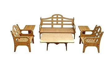 6 Piece Bamboo Sofa Set (1 Sofa, 2 Lounge Chairs, 1 Cocktail