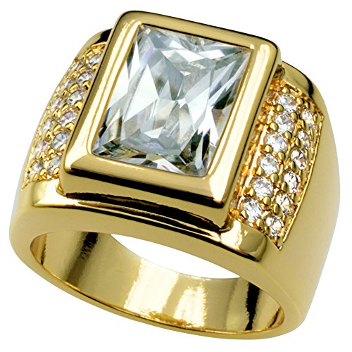 wayne-Size 8-15 Jewelry Mans AAA Sapphire 18K Gold Filled Ring R199 (8)