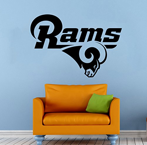 Los Angeles Rams Wall Vinyl Decal Sticker NFL Emblem Football Team Logo Sport Poster Home Interior Removable Decor
