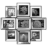 mirrored picture frames  - Photo Frame 21x24 Mirror Frame Picture Frame Selfie Gallery Injection Collage Wall Hanging - 9 Photo Sockets - Wall Mounting Design