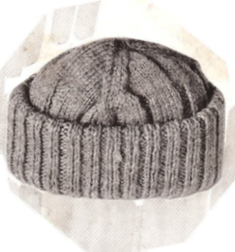 Vintage Knitting PATTERN to make - Knitted Men's Beanie SNOW SKI HAT. NOT a finished item, this is a pattern and/or instructions to make the item only. (Knitted Beanie Hat Pattern)