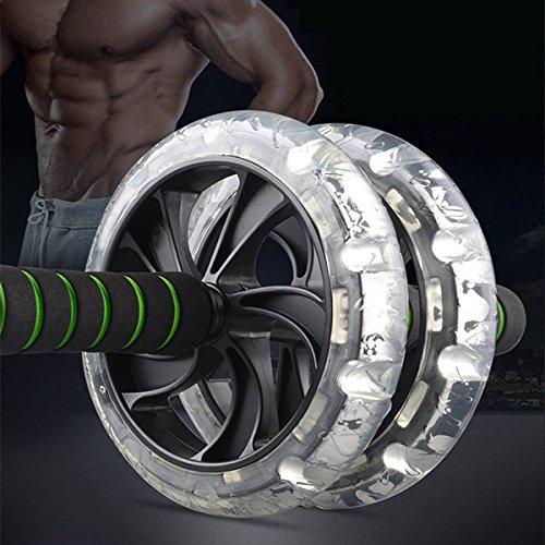 Bazaar Abdomen rouleau motorisé formation push-up à rouleaux ab remise en forme à double muscle roue musculation d'exercice