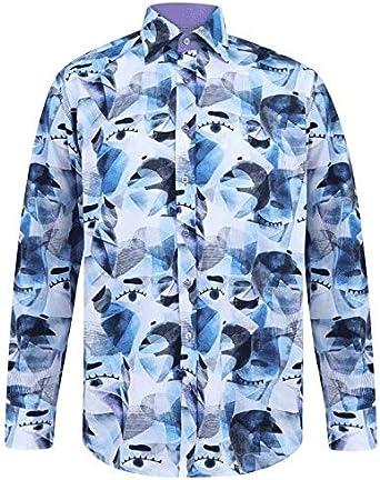 Claudio Lugli - Blue Picasso Inspired Print Shirt: Amazon.es ...