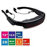 Excelvan 2015 HOT 72 Inch Virtual Digital Portable Video Glasses Personal Theater Widescreen with 3D Stereo Sound for TV BOX/ PSP--Visual Feast for Show Video(Black)