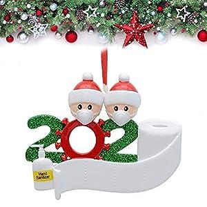 Afaneep Ornamenti Natalizi Decorazioni DIY 2 Persone con Nome Personalizzato Sopravvissuto Personalizzato, Ciondolo Albero di Natale, Famiglia di Decorazioni Natalizie Regali di Festa 5 spesavip