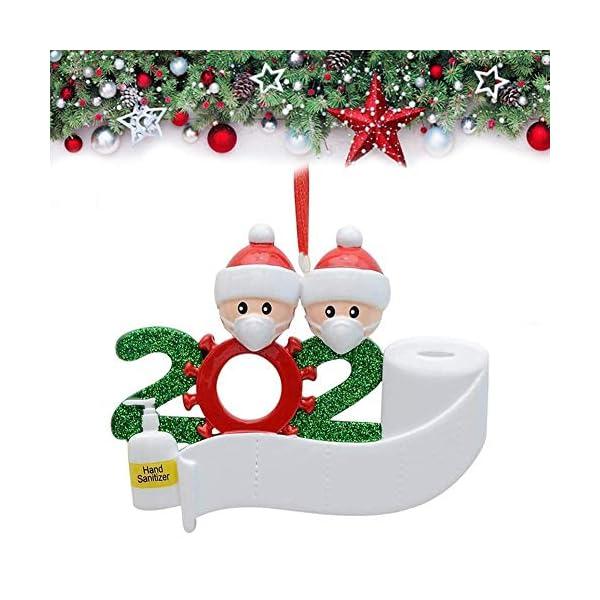 Afaneep Ornamenti Natalizi Decorazioni DIY 2 Persone con Nome Personalizzato Sopravvissuto Personalizzato, Ciondolo Albero di Natale, Famiglia di Decorazioni Natalizie Regali di Festa 1 spesavip