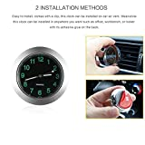 Car Dashboard Clock, ONEVER Small Round Analog