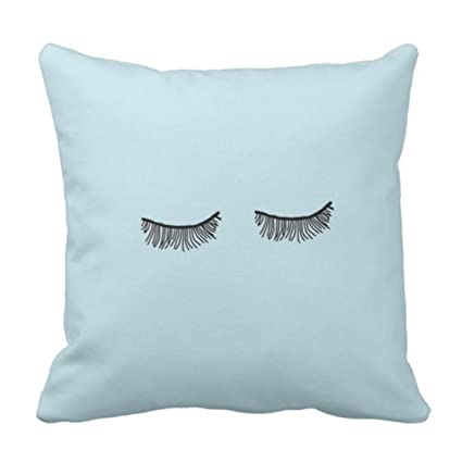 Amazon Emvency Throw Pillow Cover Eye Cute Tumblr Blue Eyelash Interesting Cute Cheap Decorative Pillows