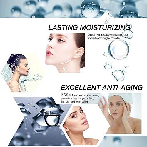 51YhjZdJVBL - Retinol Cream,Retinol Moisturizer Cream,Retinol Day Night Cream,Anti Aging Cream with Active Retinol Hyaluronic Acid for Face Eye Area Wrinkles Fine Lines Firming Skin