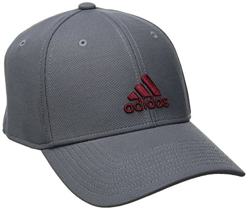 adidas Men's Rucker Stretch Fit Cap, Onix/Collegiate Burgundy/Grey, Small/Medium