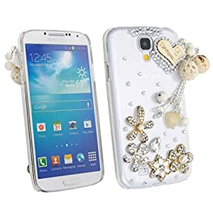 niceEshop 3D Bling Diamond Love Heart Clear Crystal Hard Case Cover For Samsung Galaxy S4 i9500 by icecream design