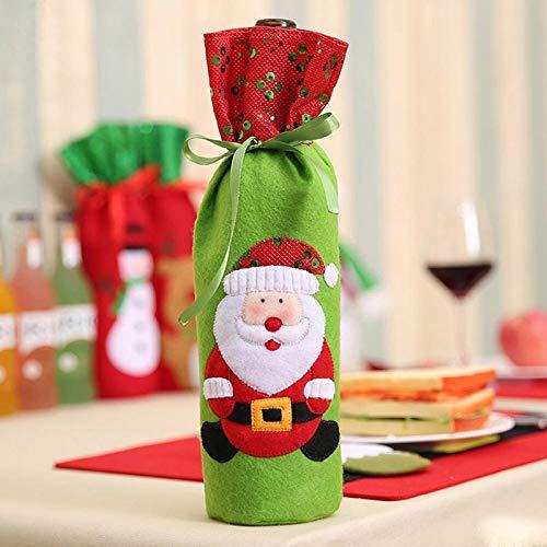 (Stockings & Holders - 1 Pc Christmas Gift Decoration Wine Bottle Cover Santa Claus Dinner Table Xmas 252367 - Holders Stockings Stockings Gift Holders Wall Mount Wine Bottle Holder)