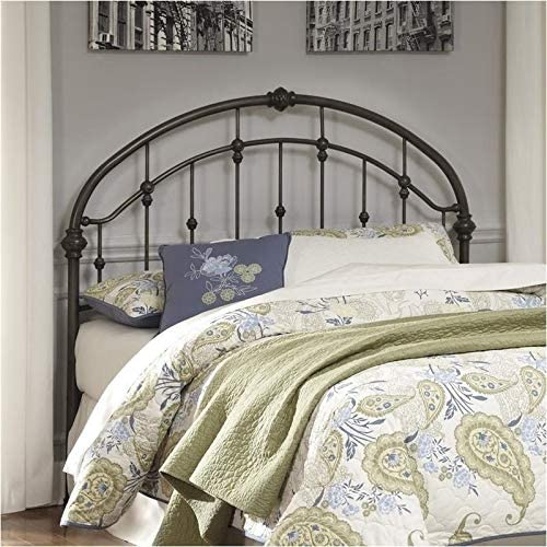 BOWERY HILL Wrought Iron Metal Queen Headboard in Bronze Headboard Only