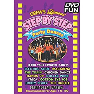 """Amscan Drew's Famous Step By Step Party Dance DVD Multimedia, 4.8 x 5.6"""""""