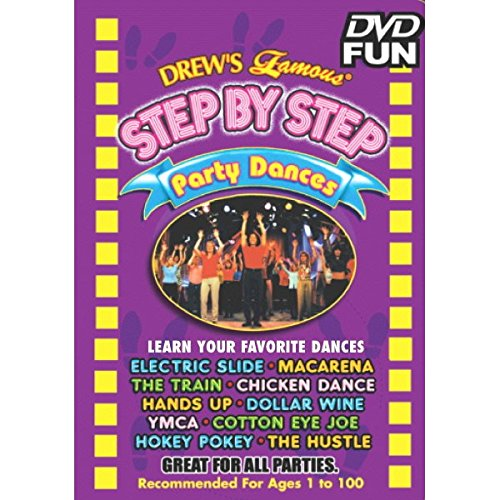 Drew Step - Amscan Drew's Famous Step by Step Party Dance Educational DVD, Multicolor, 4.8