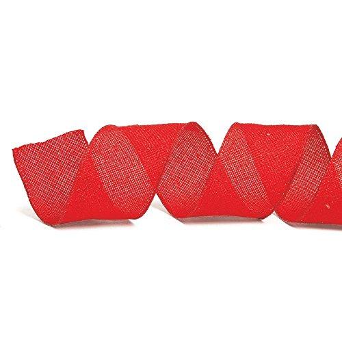 Fita De Natal 6,3Cm C/ 9,14M Vermelha