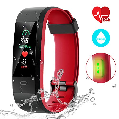 CHEREEKI Fitness Tracker, Activity Tracker with Heart Rate Monitor IP68 Waterproof Fitness Watch with Color Screen,14…