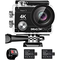 Dragon Touch 4K Action Camera 16MP Vision 3 Underwater...