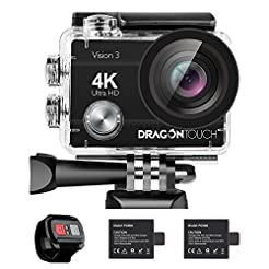 Dragon Touch 4K Action Camera 16MP Visio...