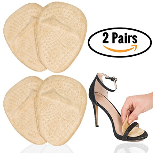 Metatarsal Pads for Women | Ball of Foot Cushions (2 Pairs Foot Pads) All Day Pain Relief and Comfort One Size Fits Shoe Inserts for Women