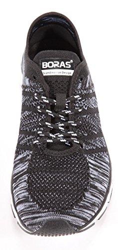 Uomo Sneakers Boras 5201 Nero Bianco F0A6q0n