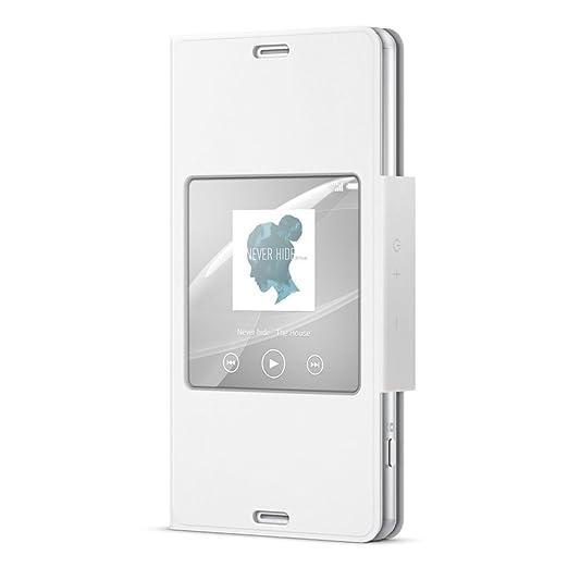 15 opinioni per Sony SCR26 Custodia con Supporto e Finestra per Xperia Z3 Compact, Bianco