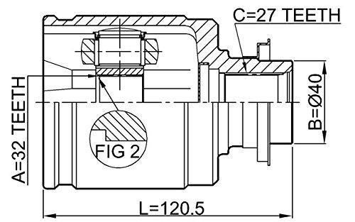 Inner CV Joint 32X40X27 For Honda 44310Ta0306 Febest