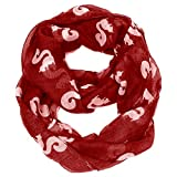 Cozy By Lulu- Squirrel Infinity Scarf Red