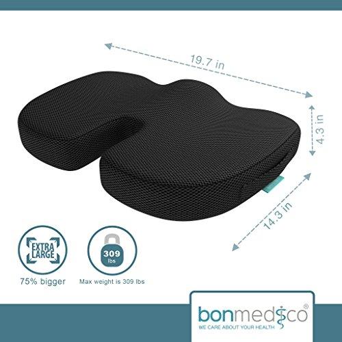 Bonmedico 174 Orthopedic Extra Large Coccyx Seat Cushion