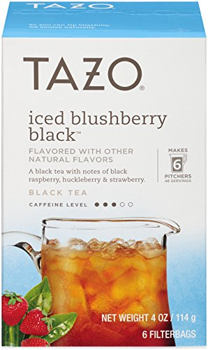 Tazo Filter Bag Tea, Iced Blushberry Black, 24 Count