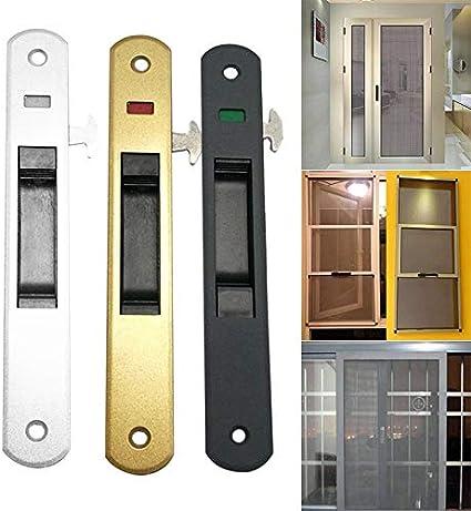 Gmxop - 1 pieza para puerta corredera, manilla de ventana, candado, gancho estilo empotrado, aleación de cinc, Negro , medium: Amazon.es: Hogar
