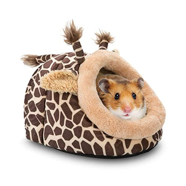 Hollypet Warm Small Pet Animals Bed Dutch Pig Hamster Cotton Nest Hedgehog Rat Chinchilla Guinea Habitat Mini House 1