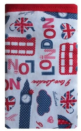 Weiß London Print Apple iPhone 4 oder 4S Socke/Case/Cover/Tasche