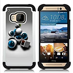 For HTC ONE M9 - Abstract Dual Layer caso de Shell HUELGA Impacto pata de cabra con im??genes gr??ficas Steam - Funny Shop -