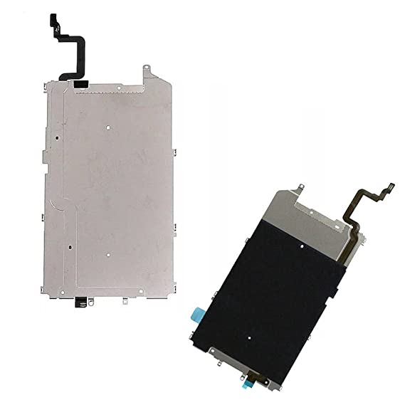 reputable site 19035 64756 Metal Thermal Plate & Home Button Flex Cable Heat Shield for iPhone 6 Plus  5.5