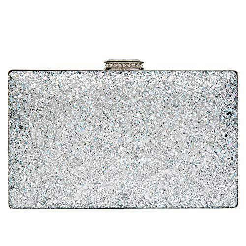 Sparkling Clutch Purse Elegant Glitter Evening Bags Bling Evening Handbag for Dance Wedding Party Prom Bride -