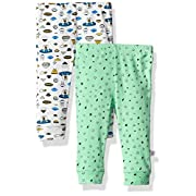 Rosie Pope Baby Boys 2 Pack Pants (More Options Available), Spaceship, 3-6 Months