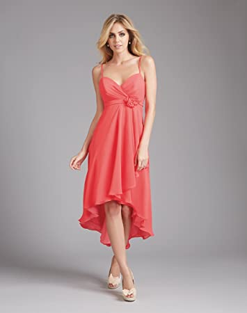 3a1faaf4267 Image Unavailable. Image not available for. Color  Women s Chiffon Sleeveless  High-Low Braid Trim Gown