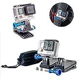Nomadic Gear Backpack Clip mount with 360' Rotary Mount + Metallic Screws for GoPro Hero 6 Hero5 Hero4 Hero 3+ Cameras| Universal Support for GoPro - SJCAM - XIAOMI
