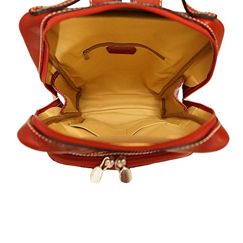 Red unisex flat 6538 purse Backpack xBIqTn