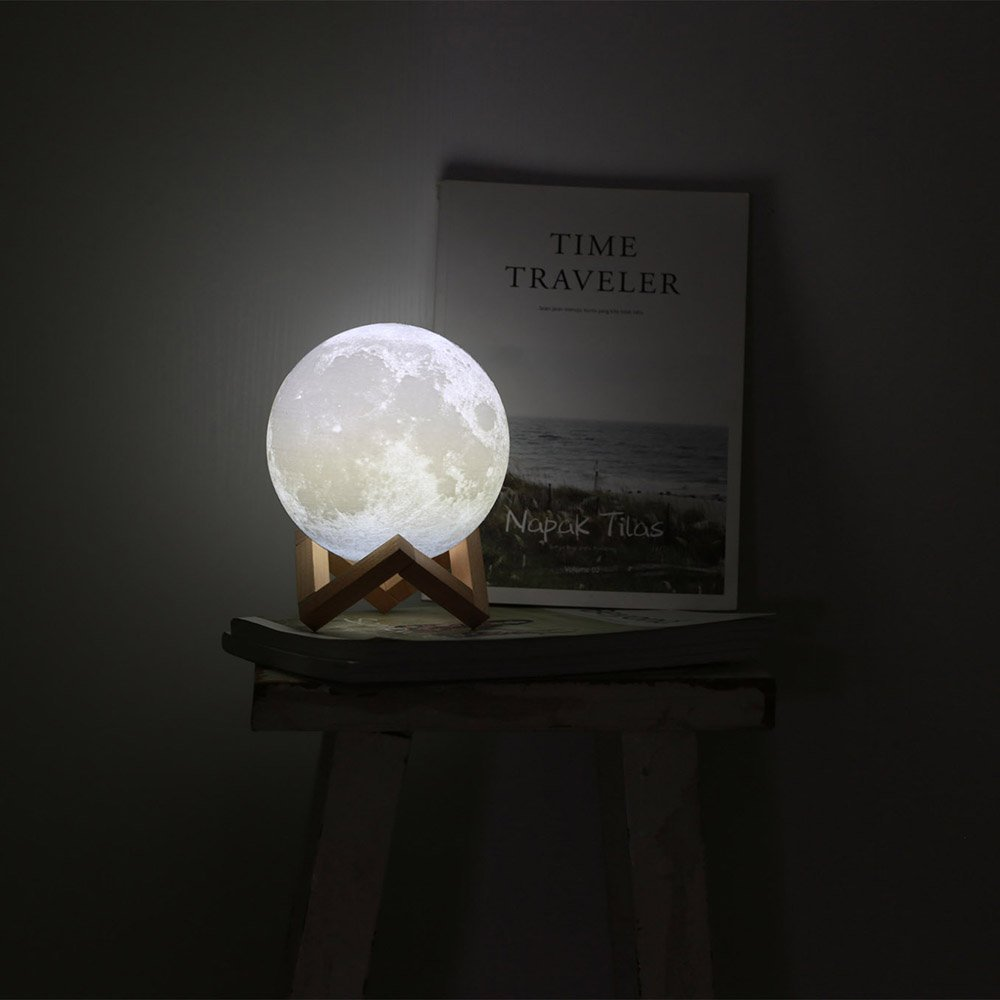 Sunba Youth Moon Night-1 3D Lunar Lamp with Stand, 5.9 Inches Mystical Rechargeable Dimmable Touch Control Lighting Color for Home Decor, 6.96.96.5, Warm Color by Sunba Youth (Image #7)