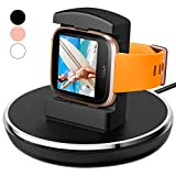 For Fitbit Versa Charger, EPULY for Fitbit Versa Accessories Women Men Charging Stand Charger Station Holder Cradle TPU Protective Hook with 3 Ft Charging USB Cable for Fitbit Versa Smartwatch (Black)