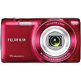 """Fujifilm FinePix JZ200 - Cámara compacta de 16 Mp (pantalla de 2.7"""", zoom óptico 8x, estabilizador de imagen óptico, vídeo HD 720p) color rojo (importado)"""