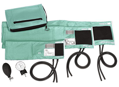 Prestige Medical 3-in-1 Aneroid Sphygmomanometer Set with Carry Case, Aqua Sea