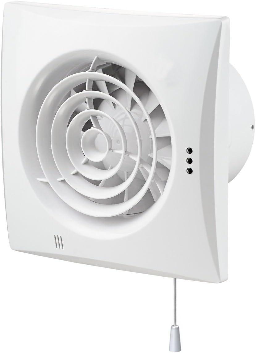 Extractor de aire con higrostato y silencioso- no sólo es poco ruidoso, sino que es incluso silencioso