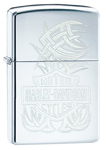 Zippo Harley-Davidson bar & Shield High Polish Chrome Pocket Lighter by Zippo