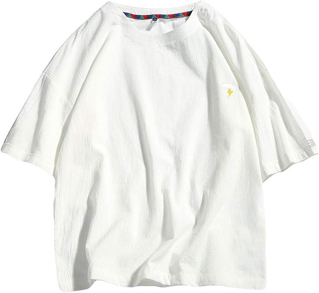 Holataa Camisetas Manga Corta Hombre Camisetas Hombre Verano Algodón y Lino Camisas Hombres Manga Corta Casual: Amazon.es: Ropa y accesorios